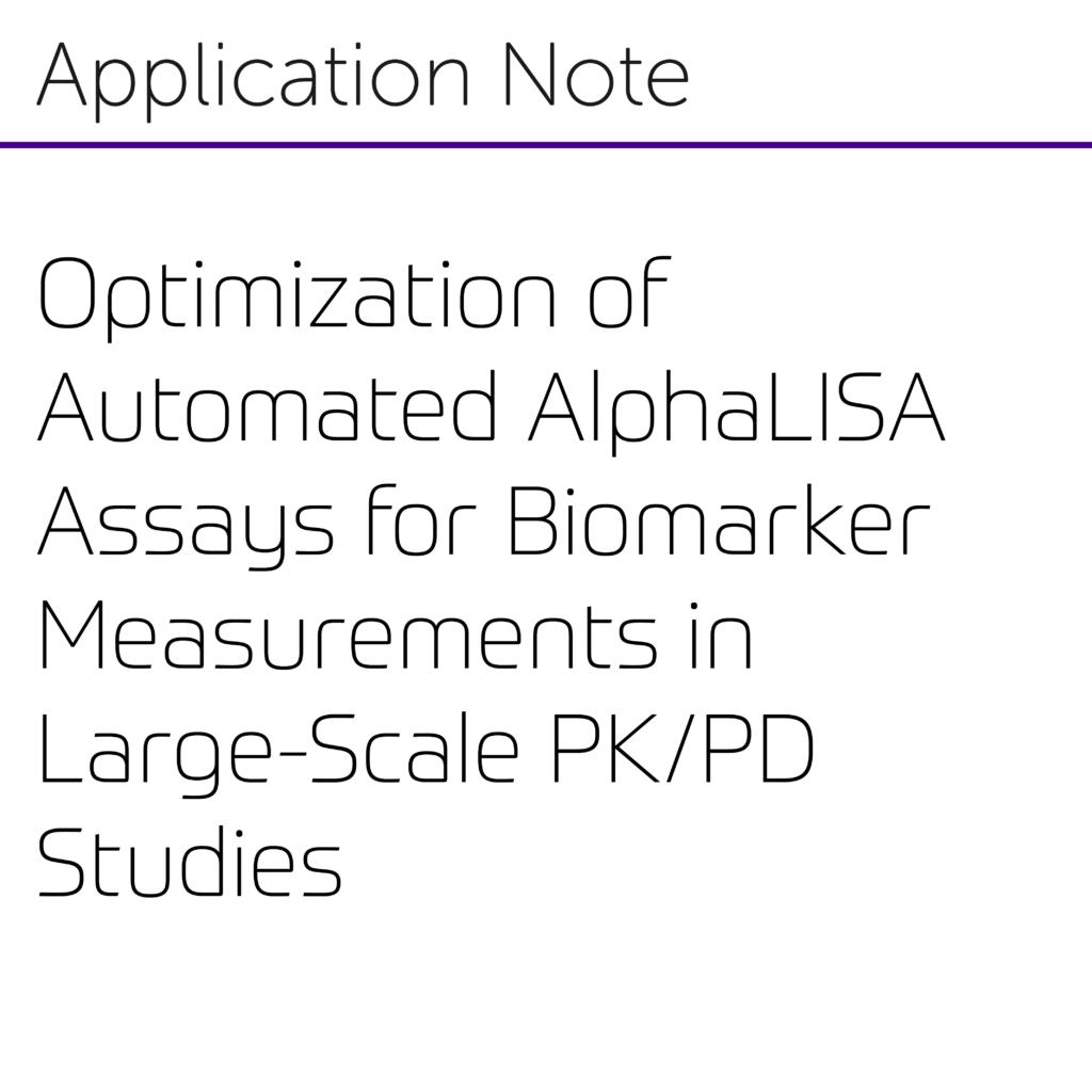 Optimization of Automated AlphaLISA Assays for Biomarker-01