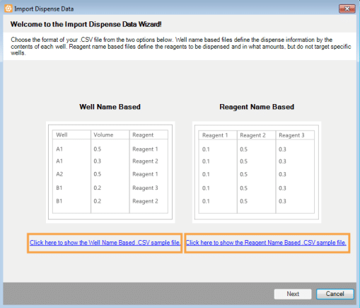 Show the Well Name Based or Reagent Name Based Example File_509x435